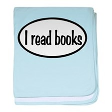 I Read Books Oval baby blanket