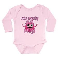 Little Monster Maya Long Sleeve Infant Bodysuit