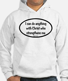 I can do anything Oval Hoodie