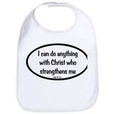 I can do anything Oval Bib