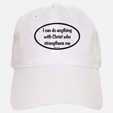 I can do anything Oval Baseball Baseball Cap