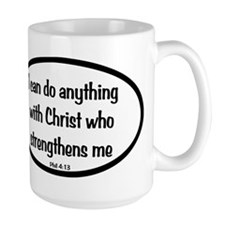 I can do anything Oval Mug
