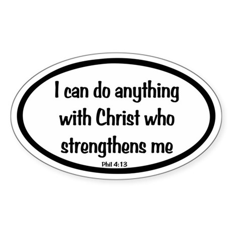I can do anything Oval Sticker (Oval 10 pk)
