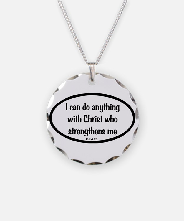 I can do anything Oval Necklace