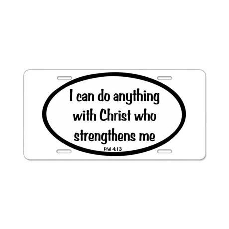 I can do anything Oval Aluminum License Plate