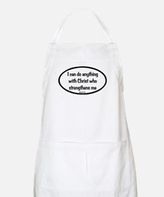 I can do anything Oval Apron