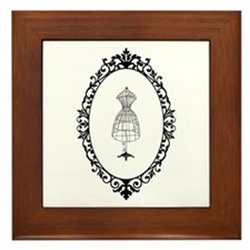 Vintage tailor's Model - Framed Tile