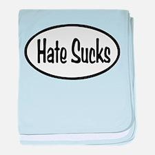 Hate Sucks Oval baby blanket