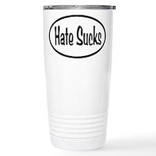 Hate Sucks Oval Travel Mug