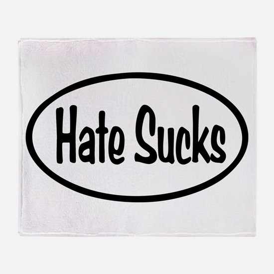 Hate Sucks Oval Throw Blanket