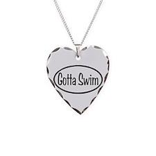 Gotta Swim Oval Necklace