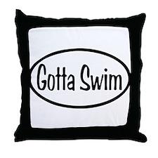 Gotta Swim Oval Throw Pillow