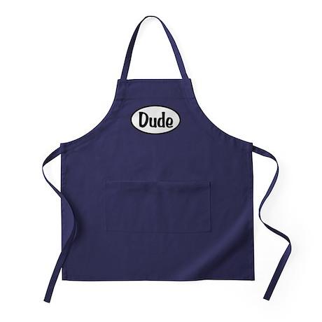 Dude Oval Apron (dark)