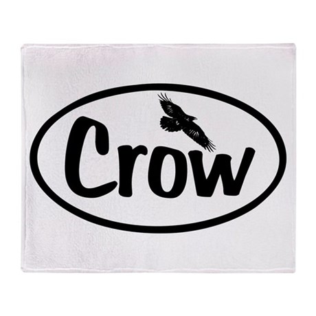 Crow Oval Throw Blanket
