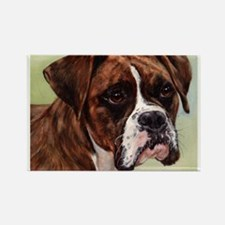 Cute Boxer Rectangle Magnet