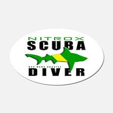 Scuba Diver: Nitrox Shark 22x14 Oval Wall Peel