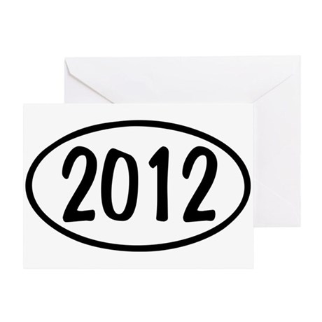 2012 Oval Greeting Card
