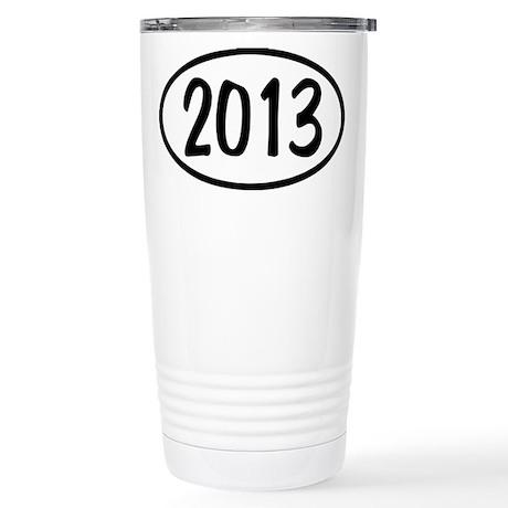 2013 Oval Stainless Steel Travel Mug