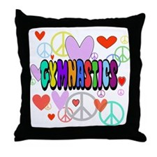 Peace-Love-Gymnastics Throw Pillow