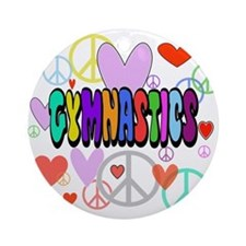 Peace-Love-Gymnastics Ornament (Round)