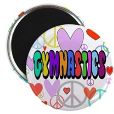Peace-Love-Gymnastics Magnet