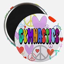 Peace-Love-Gymnastics Magnet