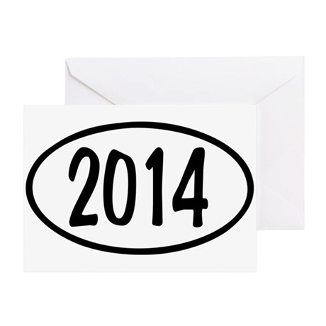 2014 Oval Greeting Card