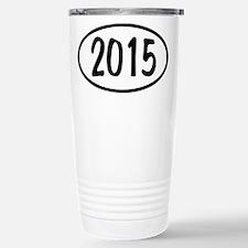 2015 Oval Stainless Steel Travel Mug