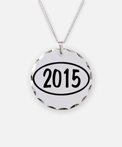 2015 Oval Necklace Circle Charm