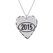 2015 Oval Necklace Heart Charm