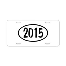 2015 Oval Aluminum License Plate