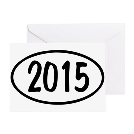 2015 Oval Greeting Card