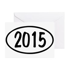 2015 Oval Greeting Cards (Pk of 20)