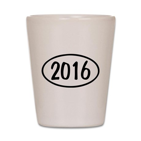 2016 Oval Shot Glass