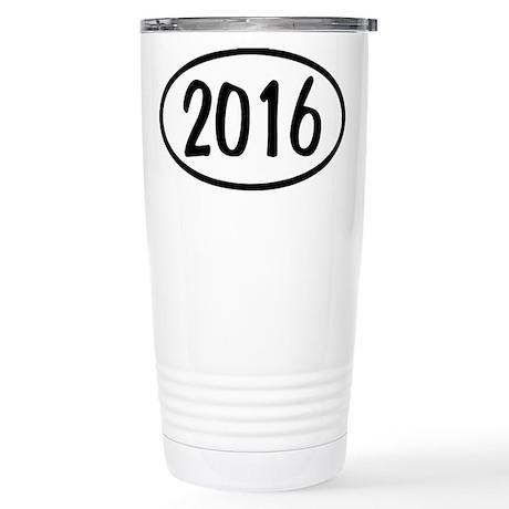 2016 Oval Stainless Steel Travel Mug