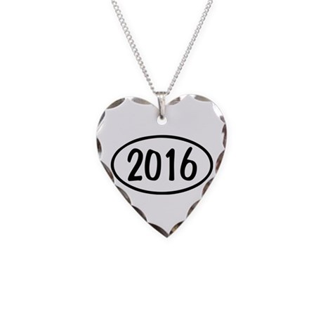 2016 Oval Necklace Heart Charm