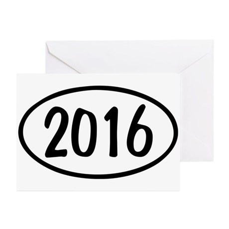 2016 Oval Greeting Cards (Pk of 10)