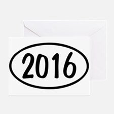 2016 Oval Greeting Card