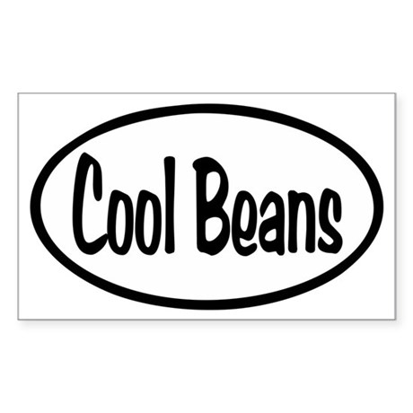 Cool Beans Oval Sticker (Rectangle)