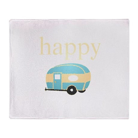Personalities - Happy Camper Throw Blanket