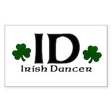 Euro ID Irish Dance Rectangle Decal