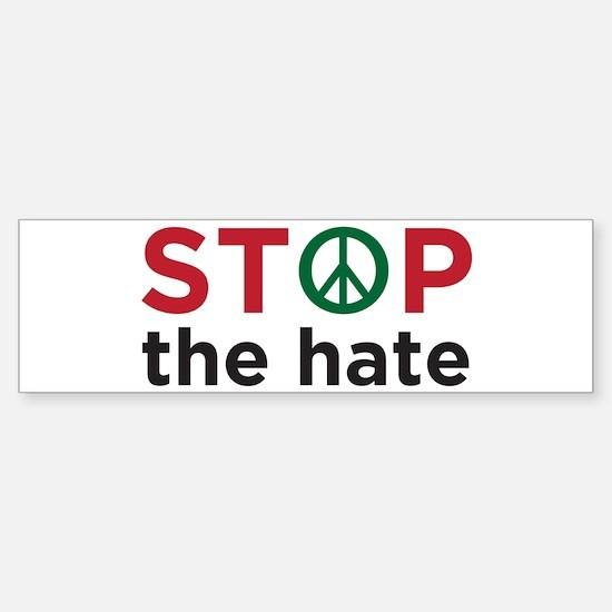 Unique Stop hate Sticker (Bumper)