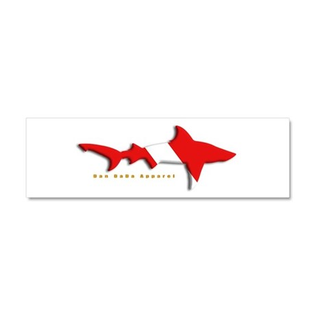 Shark Diving Flag Car Magnet 10 x 3