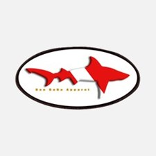 Shark Diving Flag Patches
