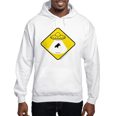 Alien Cow Abduction Hooded Sweatshirt