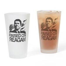 Raised on Reagan Drinking Glass