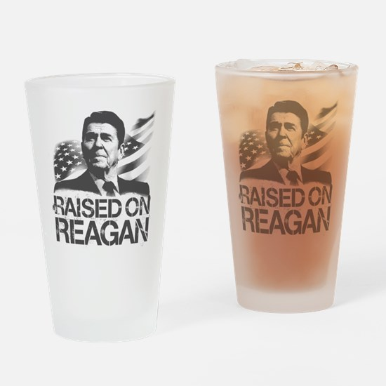 Raised on Reagan Drinking Glass