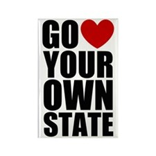 Go <3 Your Own State Rectangle Magnet