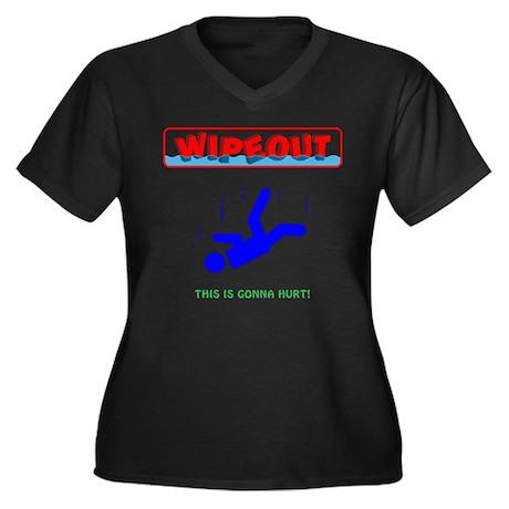 Fall Guys 3 Women's Plus Size V-Neck Dark T-Shirt