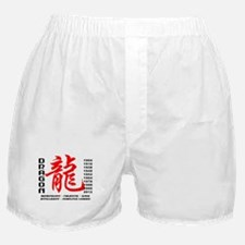 Year of The Dragon Characteristics Boxer Shorts